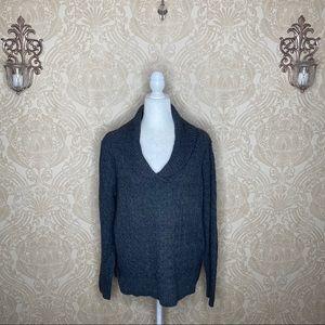 Eddie Bauer Open Neck Long Sleeve Sweater